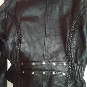 Black leather jacket real leather